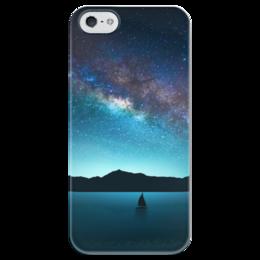 """Чехол для iPhone 5 глянцевый, с полной запечаткой """"Взгляни на небо"""" - космос, наука, thespaceway, space, вселенная"""