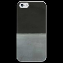 """Чехол для iPhone 5 глянцевый, с полной запечаткой """"Untitled (Black on Grey) 1970"""" - mark, untitled, rothko, 1970"""