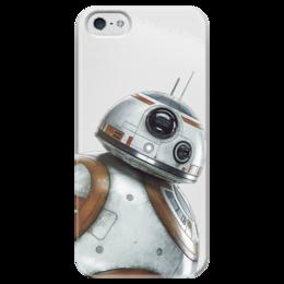 """Чехол для iPhone 5 глянцевый, с полной запечаткой """"Star Wars/Звездные войны Дроид BB8"""" - звездные войны, starwars, дарт вейдер, r2d2, bb8"""