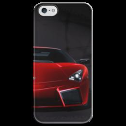 "Чехол для iPhone 5 глянцевый, с полной запечаткой ""lamborghini aventador"" - ламборгини, lamborghini, lamborghini aventador, aventador"