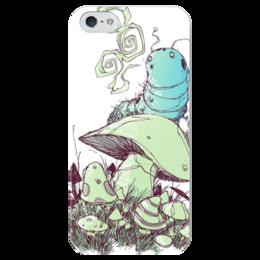 """Чехол для iPhone 5 глянцевый, с полной запечаткой """"Comics Art Series"""" - рисунок, алиса в стране чудес, alice in wonderland"""