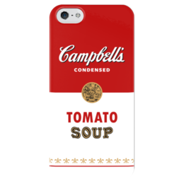 "Чехол для iPhone 5 глянцевый, с полной запечаткой ""Суп Кэмпбелл"" - арт, поп арт, энди уорхол, суп кэмпбелл, campbells soup can"
