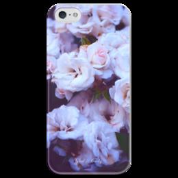 """Чехол для iPhone 5 глянцевый, с полной запечаткой """"Glad & Curly """" - цветы, природа, розы, roses"""