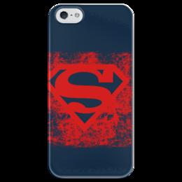 """Чехол для iPhone 5 глянцевый, с полной запечаткой """"Superman """" - арт, logo, comics, супермен, superman, dc, superhero"""