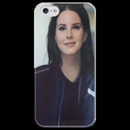 """Чехол для iPhone 5 глянцевый, с полной запечаткой """"Lana Del Rey"""" - lana del rey, lana, лана, лана дель рей"""