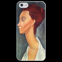 """Чехол для iPhone 5 глянцевый, с полной запечаткой """"Люния Чековска"""" - картина, модильяни"""