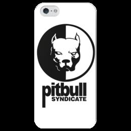 """Чехол для iPhone 5 глянцевый, с полной запечаткой """"Pitbull syndicate """" - pitbull syndicate, смотра"""