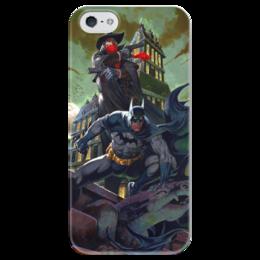 """Чехол для iPhone 5 глянцевый, с полной запечаткой """"Batman"""" - batman, бэтмэн"""