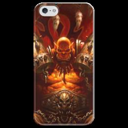 """Чехол для iPhone 5 глянцевый, с полной запечаткой """"WarCraft Collection: ork"""" - wow, warcraft, орк, world of warcraft, варкрафт"""