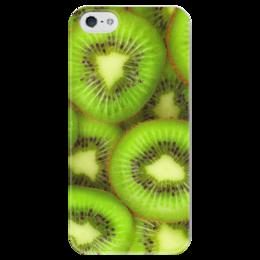"""Чехол для iPhone 5 глянцевый, с полной запечаткой """"Киви - это наслаждение"""" - фрукты, ягоды, киви"""