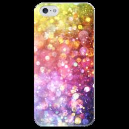 """Чехол для iPhone 5 глянцевый, с полной запечаткой """"Abstraction"""" - цвет, color, огни, фон, lights"""