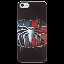 """Чехол для iPhone 5 глянцевый, с полной запечаткой """"Spider-man"""" - comics, marvel, spider-man, superhero, spider, человек-паук"""