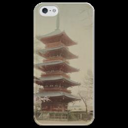 """Чехол для iPhone 5 глянцевый, с полной запечаткой """"Япония"""" - аниме, япония, архитектура, japan, architecture"""