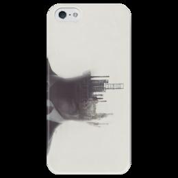 """Чехол для iPhone 5 глянцевый, с полной запечаткой """"True Detective """" - true detective, настоящий детектив"""