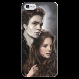 """Чехол для iPhone 5 глянцевый, с полной запечаткой """"Сумерки twilight"""" - сумерки, twilight"""