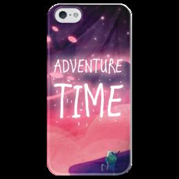 "Чехол для iPhone 5 глянцевый, с полной запечаткой ""Финн, фэн-арт Adventure time"" - adventure time, время приключений, finn, финн, fan art"