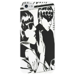 """Чехол для iPhone 5 глянцевый, с полной запечаткой """"sonic youth"""" - арт, sonic youth"""