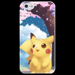 "Чехол для iPhone 5 глянцевый, с полной запечаткой ""Pikachu artwork"" - pikachu, pika"