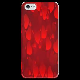 "Чехол для iPhone 5 глянцевый, с полной запечаткой ""Сердечки"" - сердце, любовь, love is, романтика"