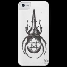 "Чехол для iPhone 5 глянцевый, с полной запечаткой ""BelovVictor"" - bug, жук"