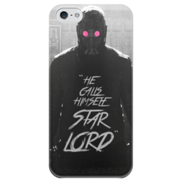 """Чехол для iPhone 5 глянцевый, с полной запечаткой """"Стражи Галактики """" - арт, стражи галактики, guardians of the galaxy, star lord"""