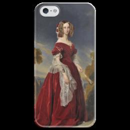 """Чехол для iPhone 5 глянцевый, с полной запечаткой """"Луиза Мария Орлеанская"""" - картина, винтерхальтер"""