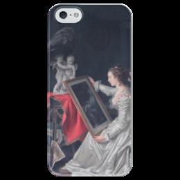 "Чехол для iPhone 5 глянцевый, с полной запечаткой ""L'Élève intéressante"" - картина, фрагонар"