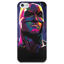 """Чехол для iPhone 5 глянцевый, с полной запечаткой """"Бэтмен"""" - комиксы, batman, dc, dc comics"""