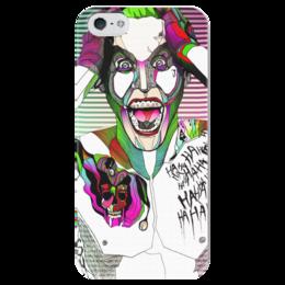 """Чехол для iPhone 5 глянцевый, с полной запечаткой """"Джокер"""" - jared leto, joker, джокер, sucide squad, отряб самоубийц"""
