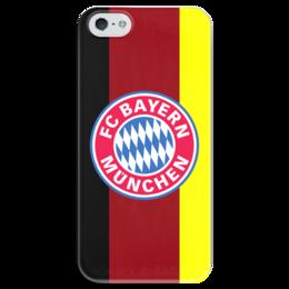 "Чехол для iPhone 5 глянцевый, с полной запечаткой ""Бавария"" - бавария, мюнхен, fc bayern munich"