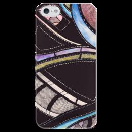 """Чехол для iPhone 5 глянцевый, с полной запечаткой """"Абстракция """" - абстракция, арт, дизайн, краски, иллюстрация"""