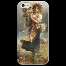 "Чехол для iPhone 5 глянцевый, с полной запечаткой ""Цветочница"" - картина, зацка"