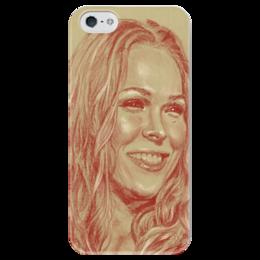 "Чехол для iPhone 5 глянцевый, с полной запечаткой ""Ronda Rousey"" - спорт, мма, ronda rousey, ронда раузи"