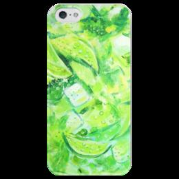 """Чехол для iPhone 5 глянцевый, с полной запечаткой """"Мохито"""" - mojito, lime, лайм, мята, мохито"""