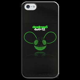 """Чехол для iPhone 5 глянцевый, с полной запечаткой """"Deadmau5"""" - dj, deadmau5, дэдмаус"""