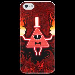 "Чехол для iPhone 5 глянцевый, с полной запечаткой ""Гравити Фолз"" - треугольник, зло, gravity falls, гравити фолз, билл шифр"