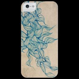 """Чехол для iPhone 5 глянцевый, с полной запечаткой """"Vintage abstraction"""" - арт, узор, стиль, графика, винтаж, абстракция, vintage, винтажный чехол"""