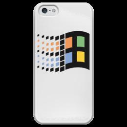 """Чехол для iPhone 5 глянцевый, с полной запечаткой """"Windows 95"""" - win, windows, microsoft, окна, виндовс, виндоус, windows 95, форточки, microsoft windows"""