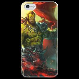 """Чехол для iPhone 5 глянцевый, с полной запечаткой """"WarCraft Collection"""" - wow, dota, warcraft, world of warcraft, варкрафт"""