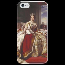 """Чехол для iPhone 5 глянцевый, с полной запечаткой """"Виктория (королева Великобритании)"""" - картина, винтерхальтер"""