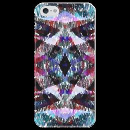 """Чехол для iPhone 5 глянцевый, с полной запечаткой """"Апачи"""" - бордовый, черный, голубой, фиолетовый, розовый"""