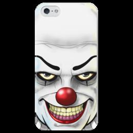 """Чехол для iPhone 5 глянцевый, с полной запечаткой """"Пеннивайз (Pennywise) """" - king, it, клоун, оно, кинг"""