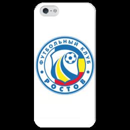 """Чехол для iPhone 5 глянцевый, с полной запечаткой """"Ростов"""" - футбол, ростов"""