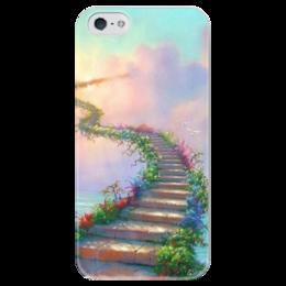 """Чехол для iPhone 5 глянцевый, с полной запечаткой """"Way to the heavens"""" - прикольные, в подарок"""