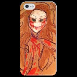 """Чехол для iPhone 5 глянцевый, с полной запечаткой """"Paper"""" - арт, зомби, рисунок, ужасы, хеллоуин"""
