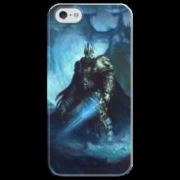 """Чехол для iPhone 5 глянцевый, с полной запечаткой """"Король Лич"""" - война, супергерои, warcraft, world of warcraft, варкрафт"""