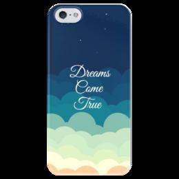 "Чехол для iPhone 5 глянцевый, с полной запечаткой ""Dream"" - dreams come true"
