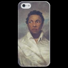 """Чехол для iPhone 5 глянцевый, с полной запечаткой """"Айра Олдридж в образе Отелло"""" - картина, норткот"""
