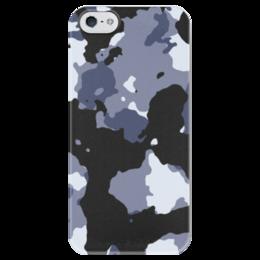 """Чехол для iPhone 5 глянцевый, с полной запечаткой """"Камуфляж"""" - армия, army, камуфляж, camo"""