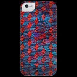 "Чехол для iPhone 5 глянцевый, с полной запечаткой ""Hexagon"" - арт, geometry"